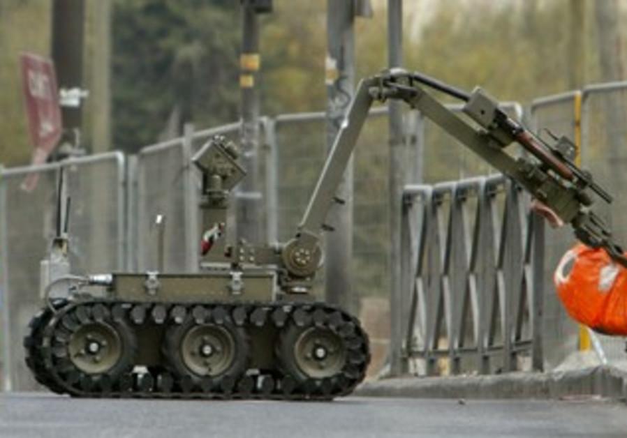 Police bomb squad robot [illustrative]