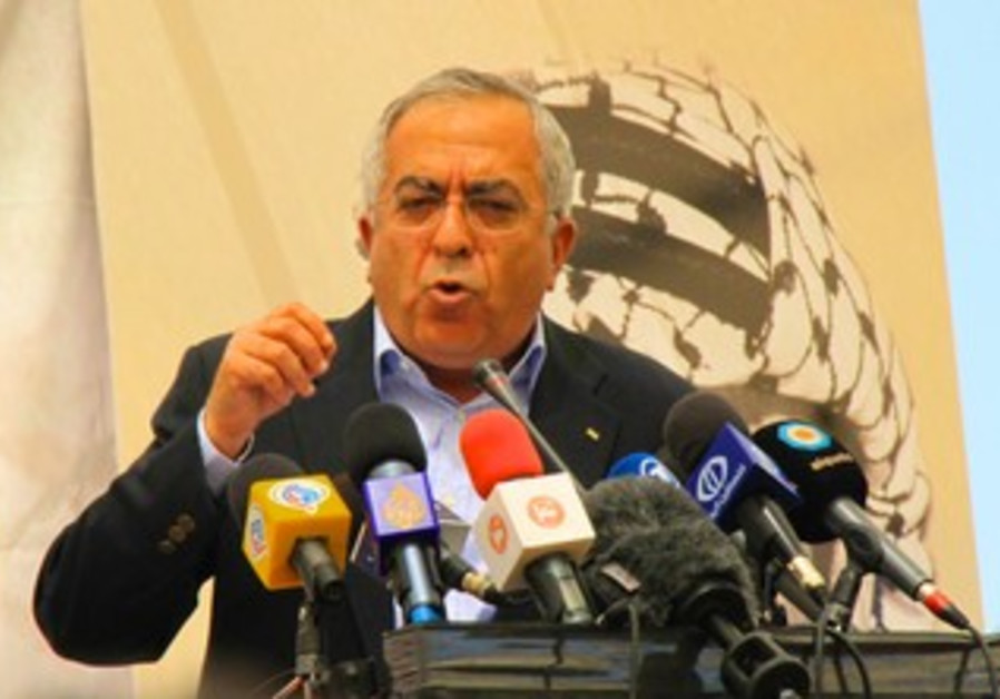 PA Prime Minister Salam Fayyad at Bil'in Conf.