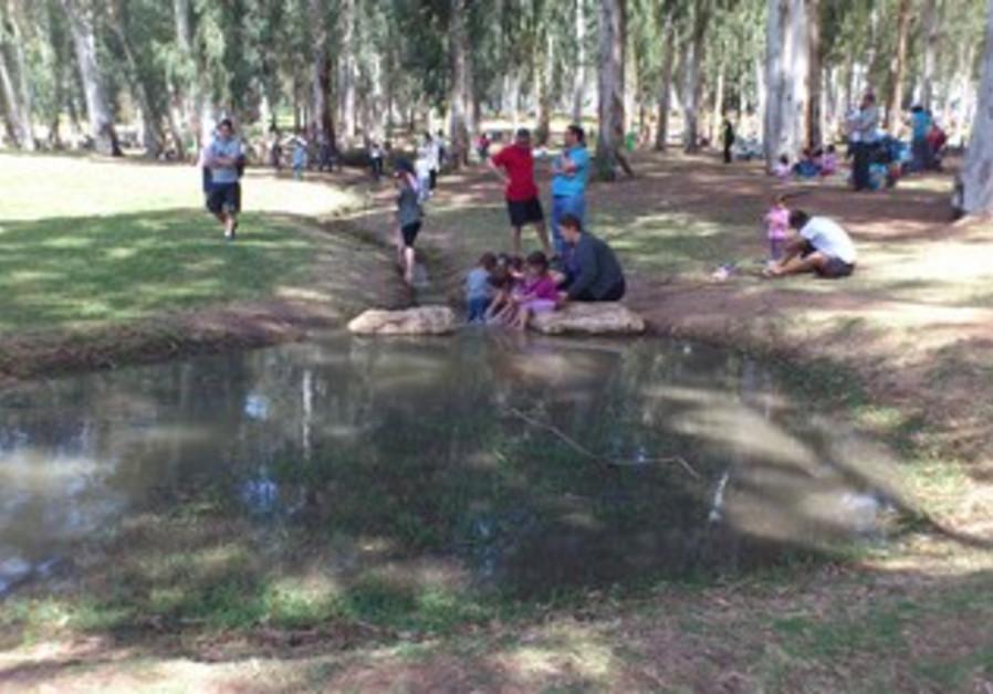 Families enjoy Hol Hamoed Passover at Yarkon Park
