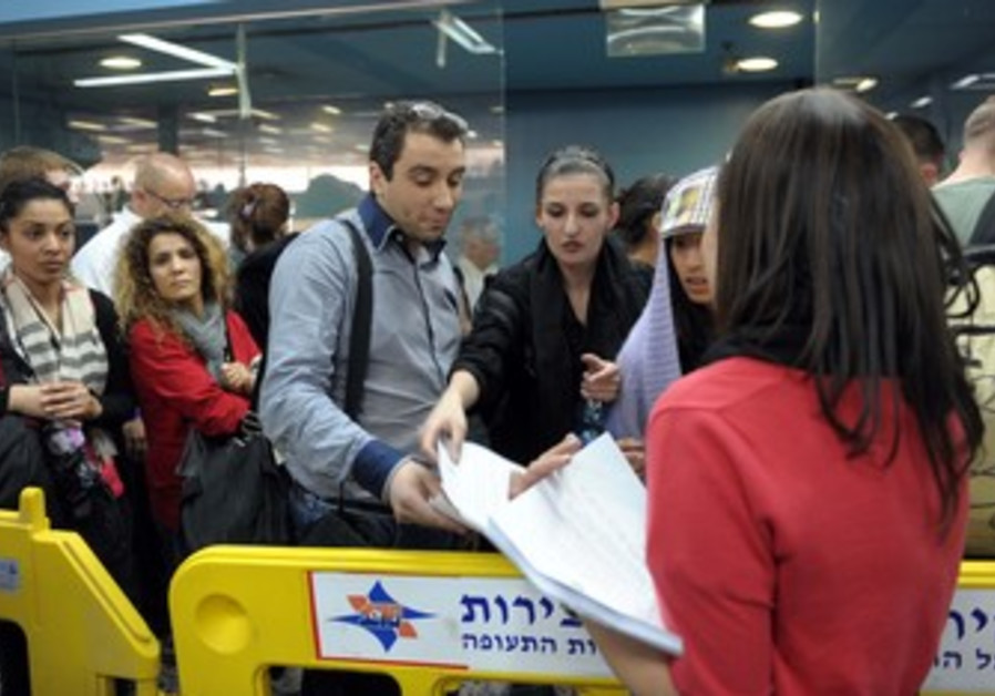Detained 'flytilla' activists at Ben-Gurion Airpor