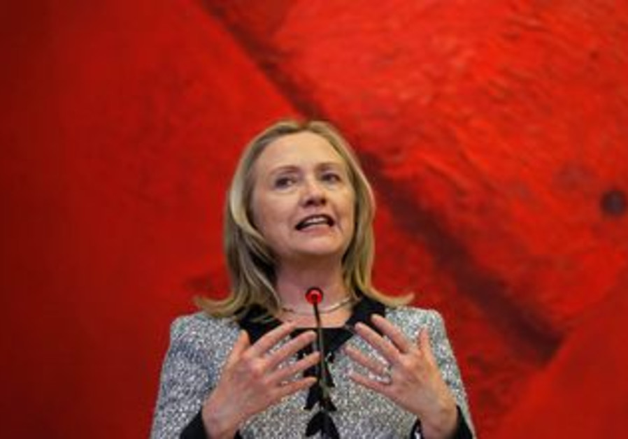 US Secretary of State Hillary Clinton in Brazil