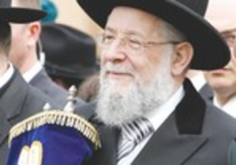 Tel Aviv Chief Rabbi Yisrael Lau