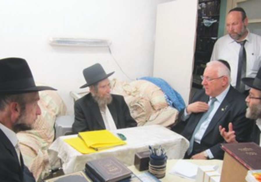 Rivlin meets with Rabbi Aharon Leib Shteinman