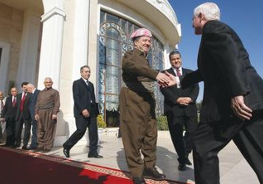 Kurdish leader MASUD BARZANI [file]
