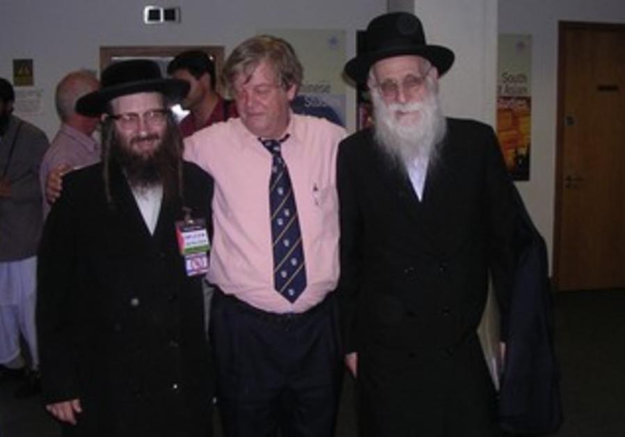 Alan Hart with Neturei Karta's Dovid Weiss
