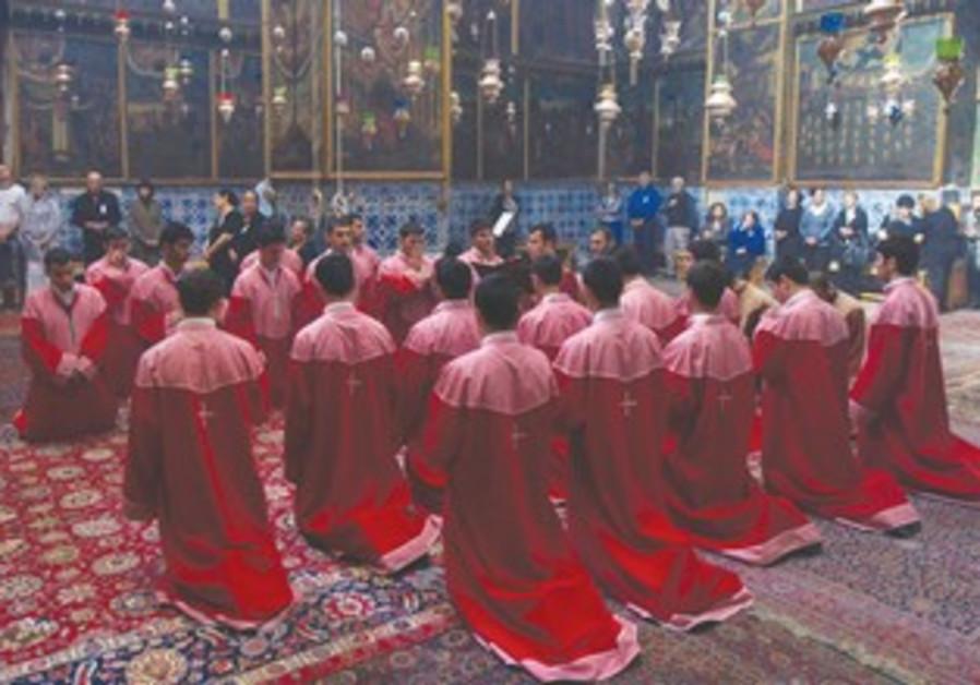 Armenian clergy in Jerusalem