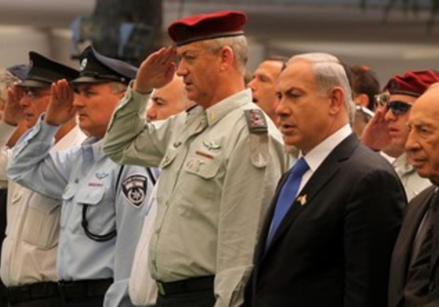 PM Netanyahu and IDF Chief Gantz at Mt. Herz