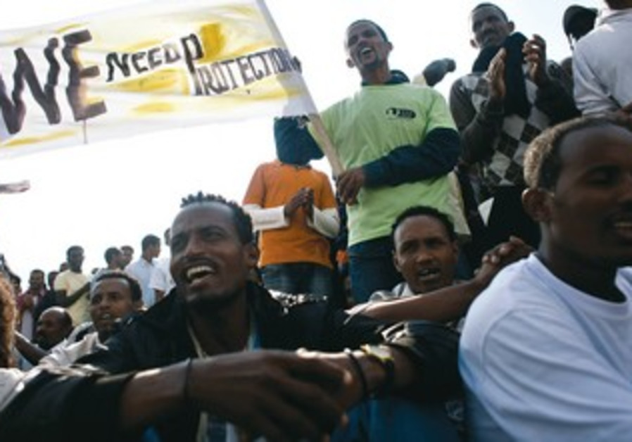 African migrants protest in Tel Aviv