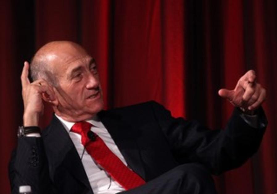 Former PM Ehud Olmert at JPost Conference