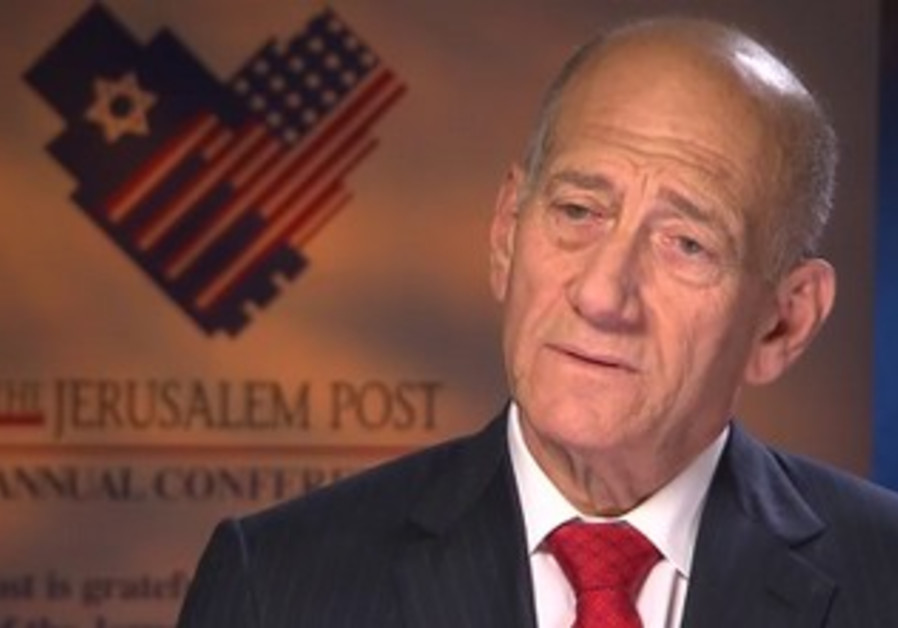 Former PM Ehud Olmert in CNN interview