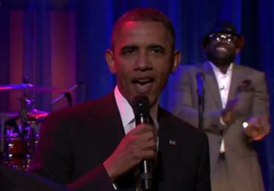 US President Obama slow jams the news.