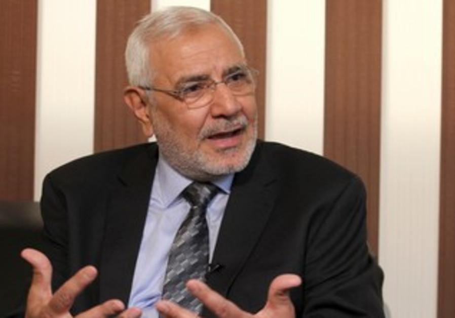 Egyptian presidential candidate Abdel Moneim Abol.
