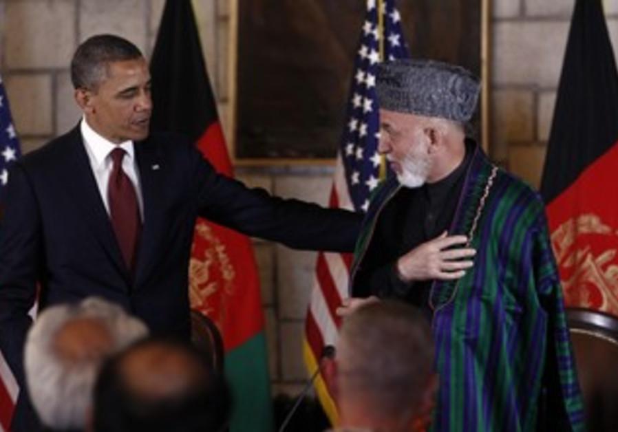 US President Obama and Afghan President Karzai