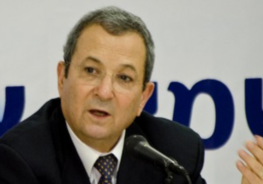 Ehud Barak at conference
