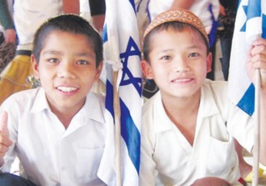 young members of Bnei Menashe