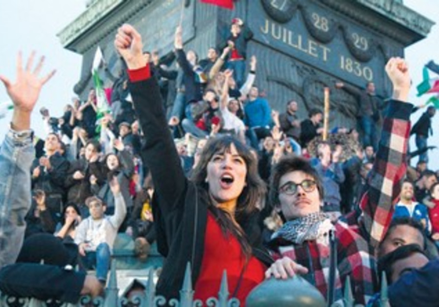 Supporters of Hollande