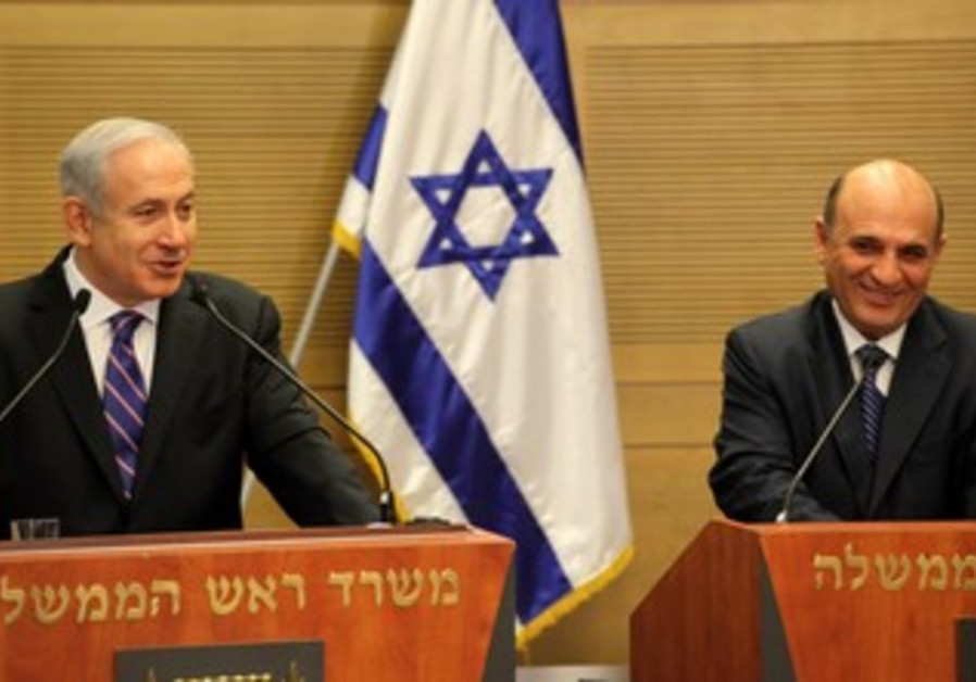 Binyamin Netanyahu and Shaul Mofaz