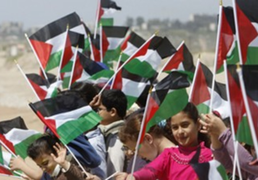Palestinian children commemorate Nakba Day.