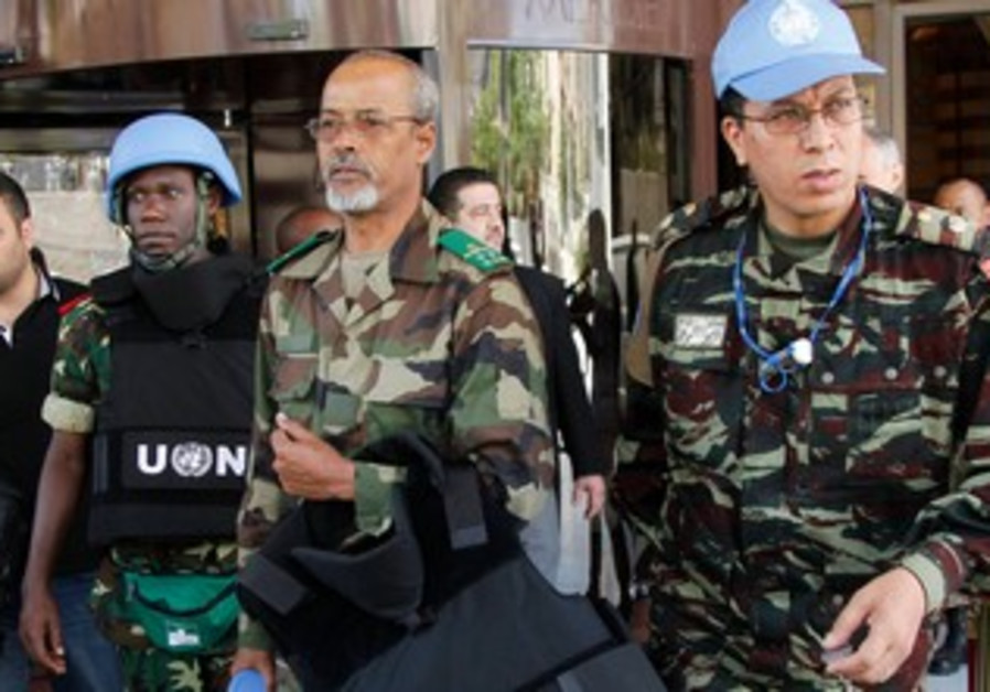 UN Observers leaving (illustrative