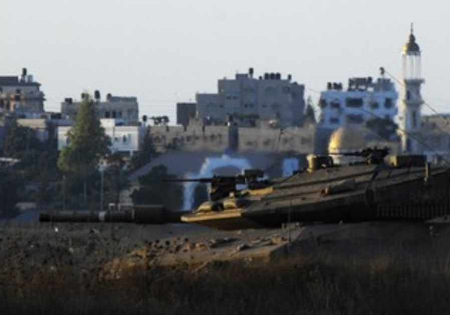 IDF tank in central Gaza Strip