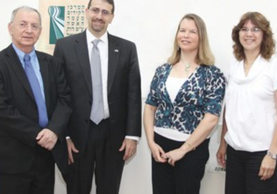 Ambassador Shapiro, Bar Ilan officials