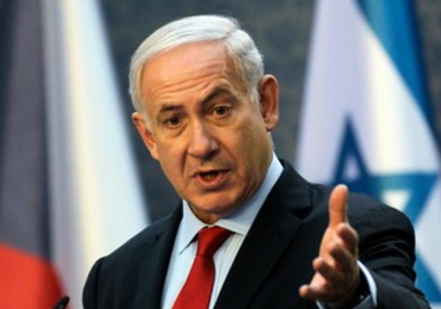 Prime Minister Netanyahu speaking in Prague