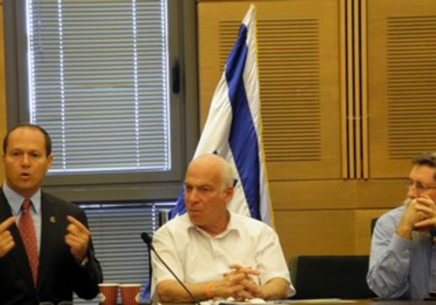 Barkat at Jerusalem Lobby Committee meeting