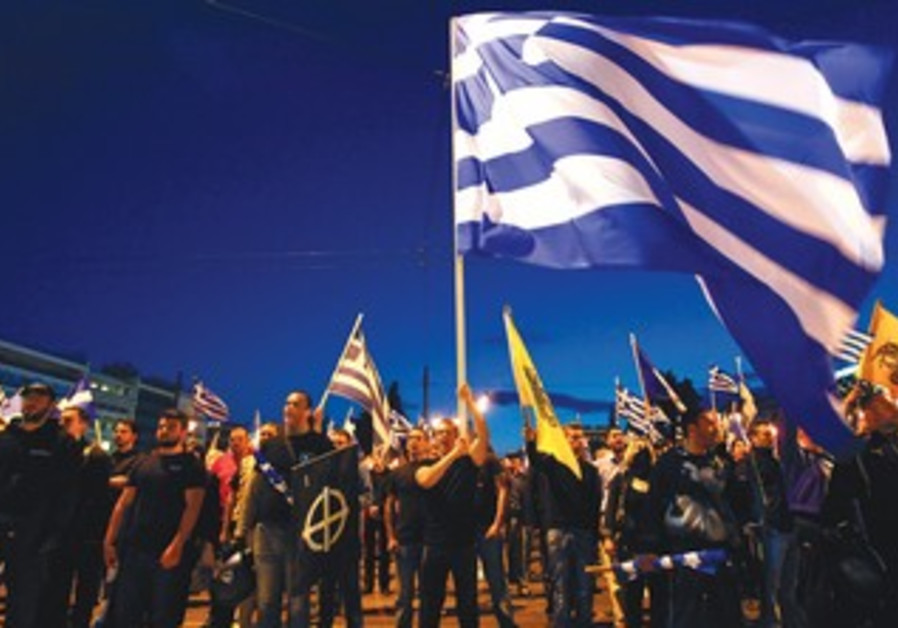Greeks marching