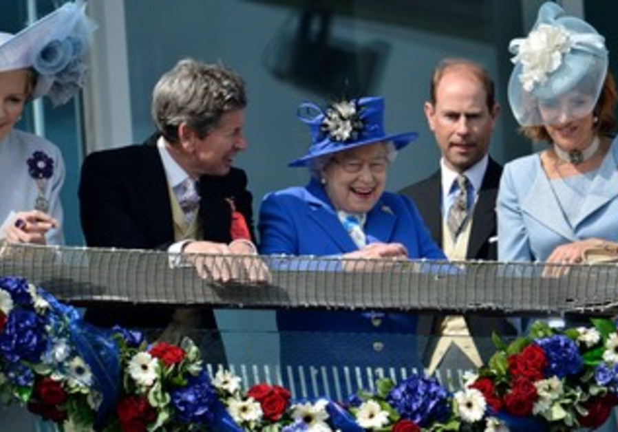 Queen Elizabeth at Epsom Derby festival