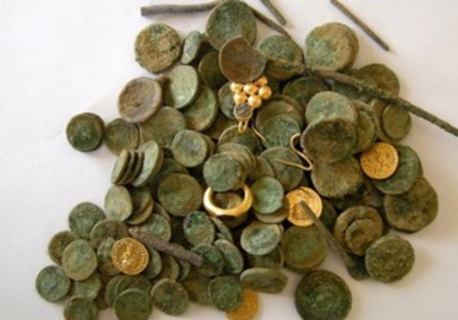 Hoard of treasure discovered near Kiryat Gat.