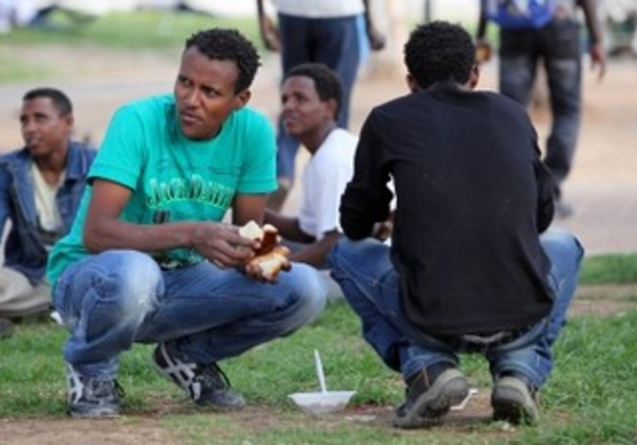Eritrean migrants: Illustratory