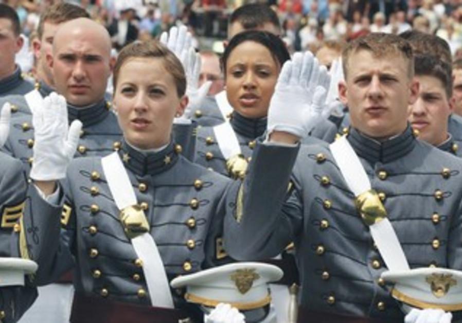 Woman being sworn in
