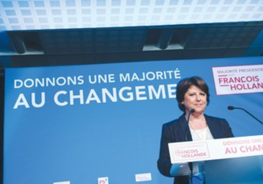 French Socialist Party leader Marine Aubrey