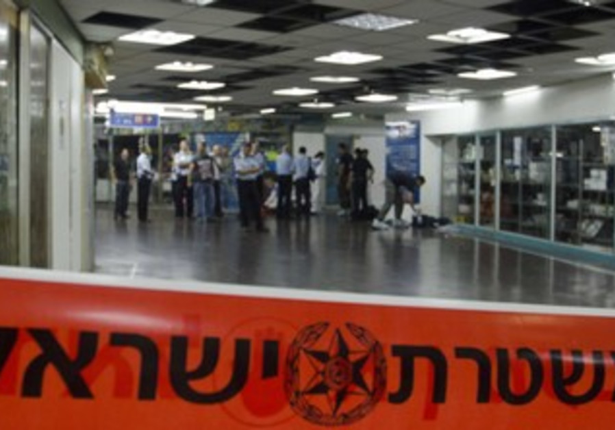 Police at Tel Aviv Central Bus Station