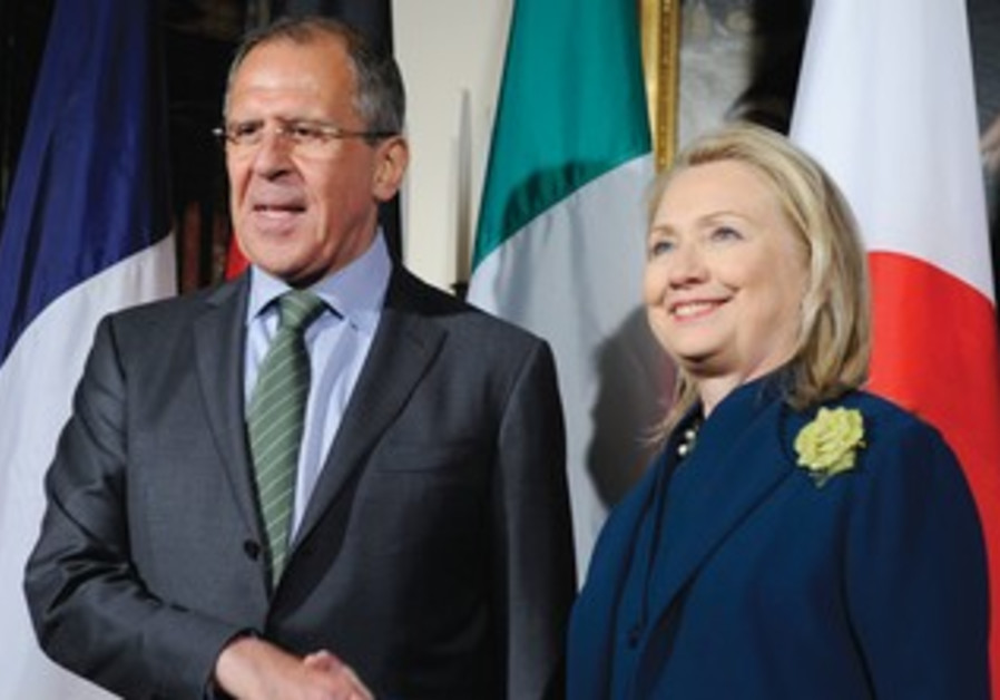 Hillary Clinton with Russian FM Sergei Lavrov