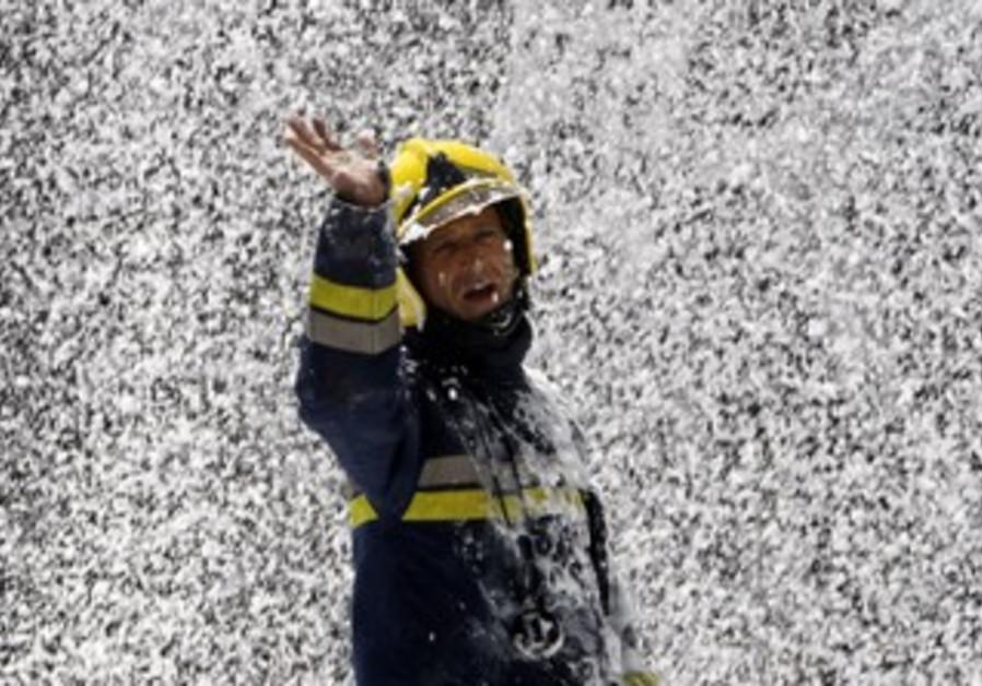 Israeli firefighter