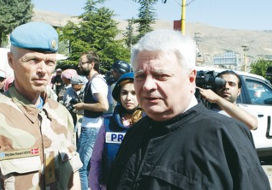 UN peacekeeping officials in Syria