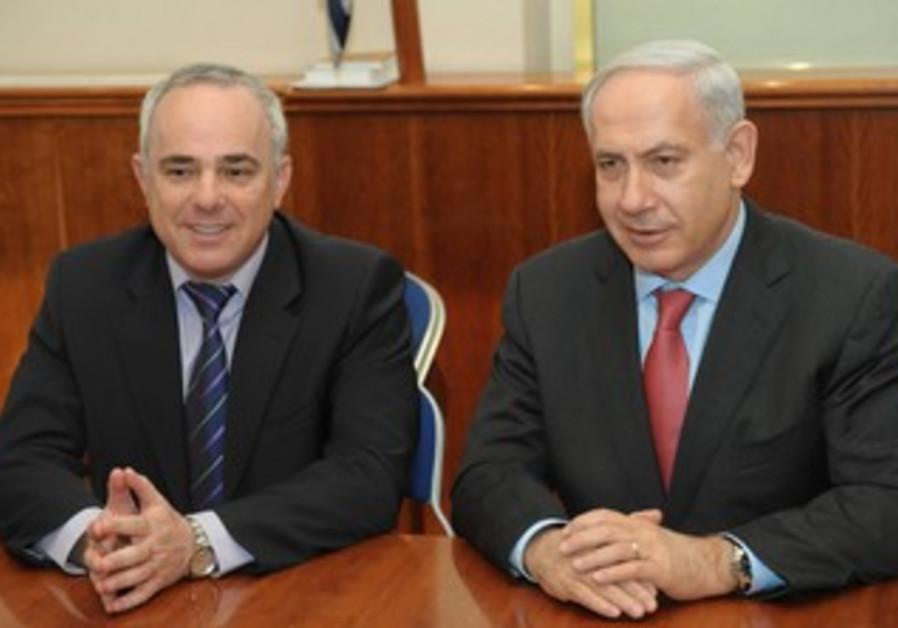 PM Netanyahu and Finance Minister Steinitz [file}
