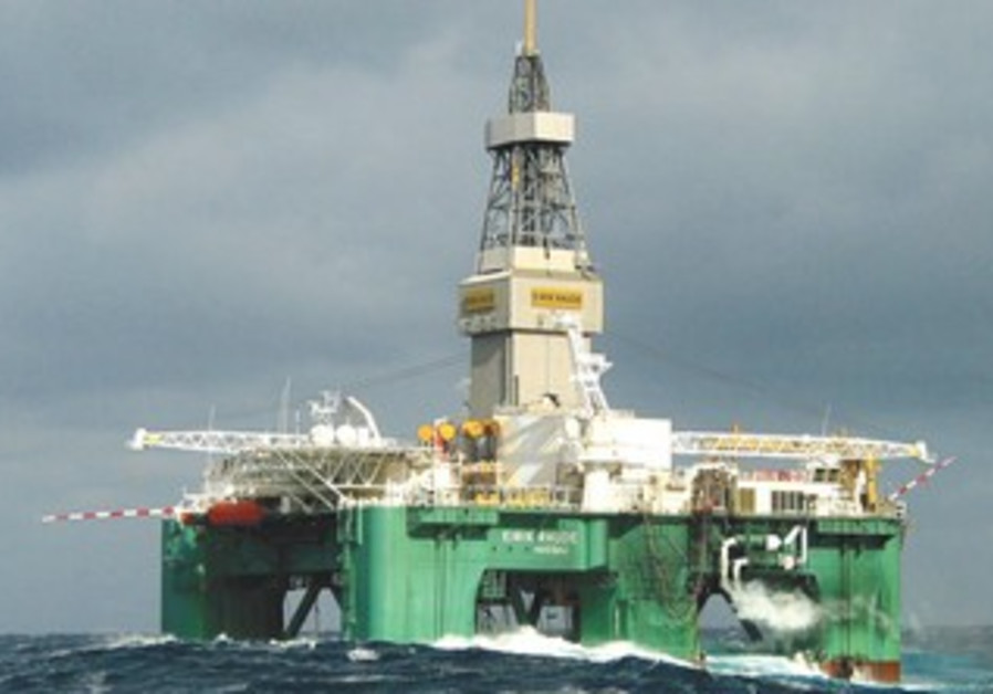 THE ELRICK RAUDE oil rig in the Burin Sea, Canada