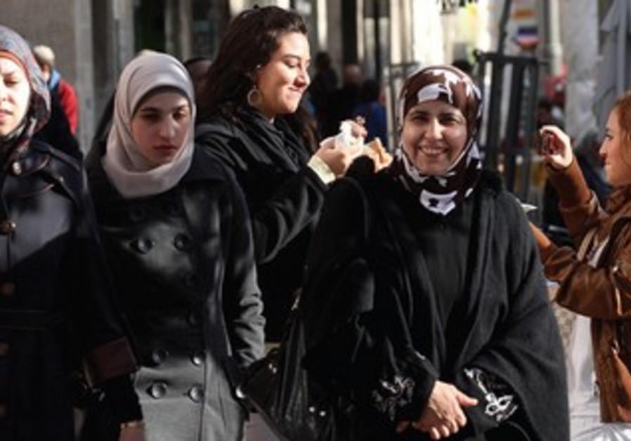 Palestinian women walking in J'lems Old City