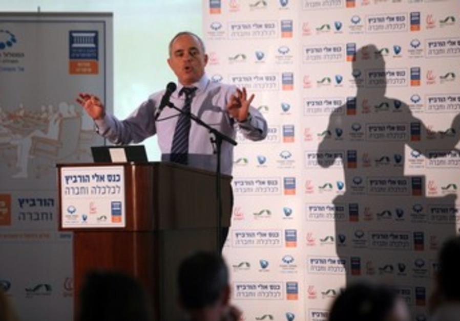 Steinitz speaks at Caesarea conference