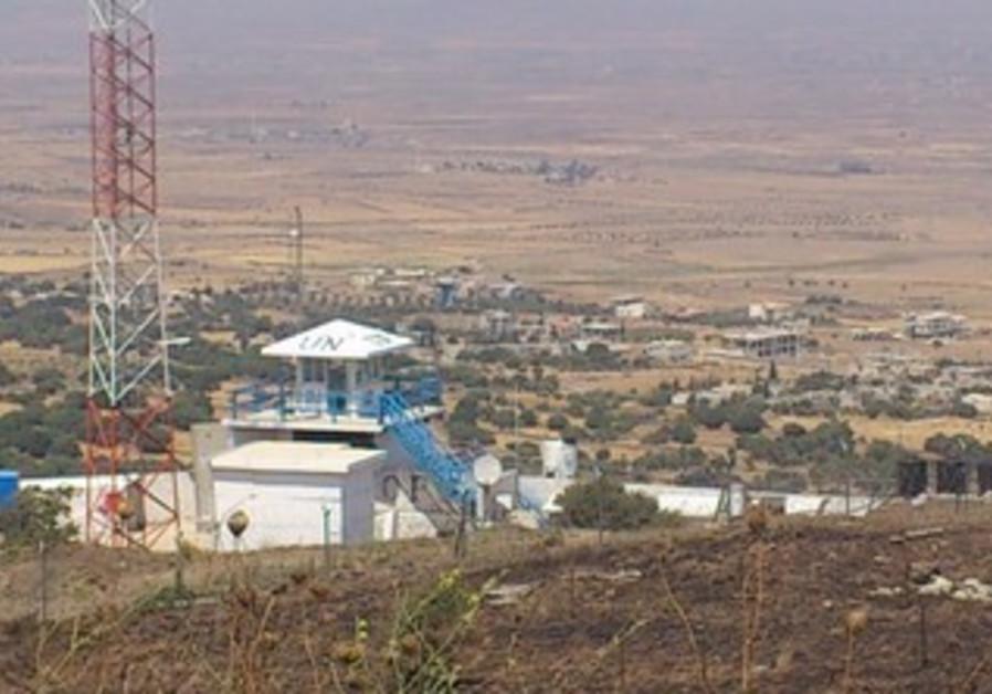 UN post on Israel-Syria border