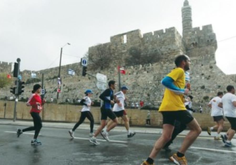 Israelis exercising