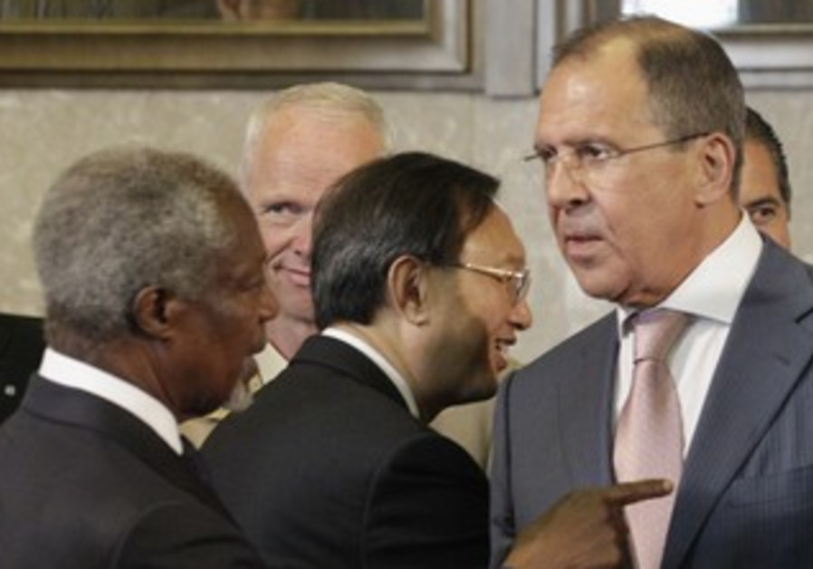 Special Syria envoy Annan and Russian FM Lavrov