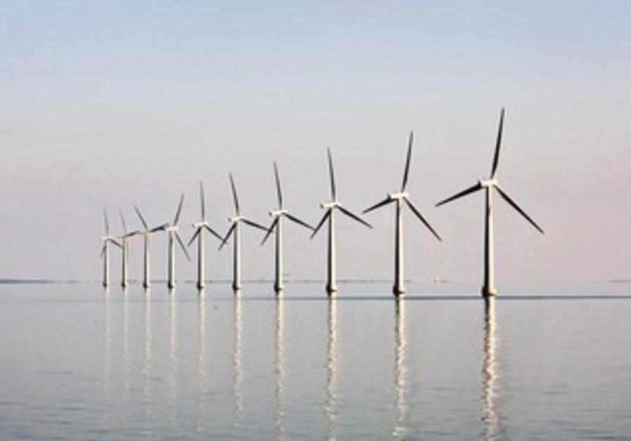 OFFSHORE windfarm near Danish island of Samso