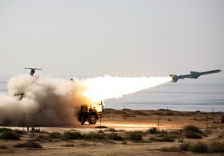 An Iranian Qader long-range missile is fired