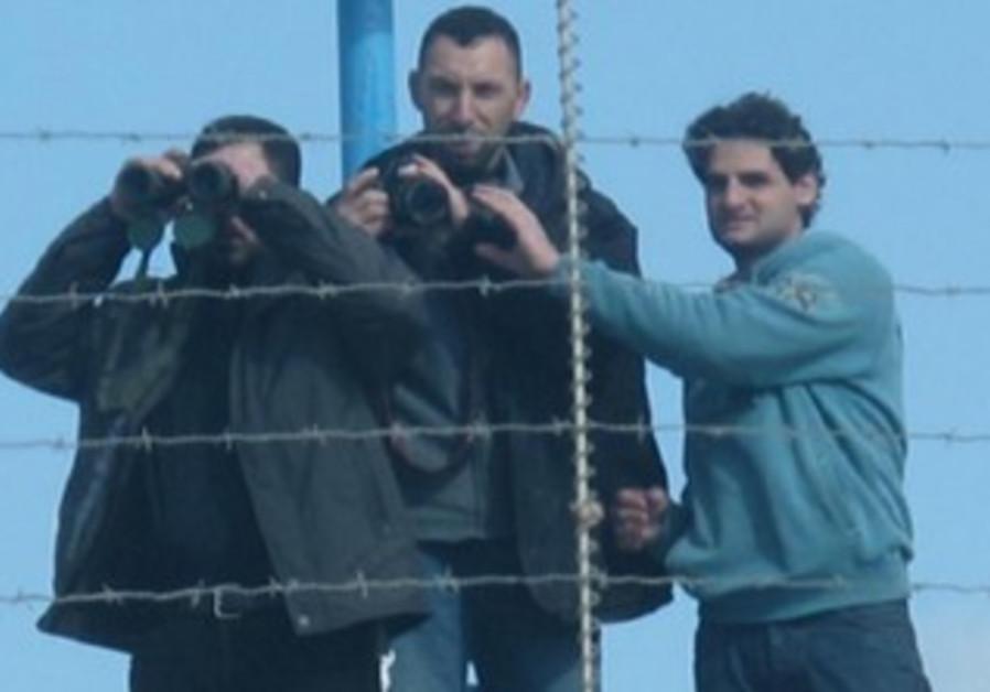 Hezollah operatives film IDF movements