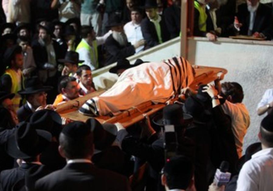 Rav Elyashiv funeral