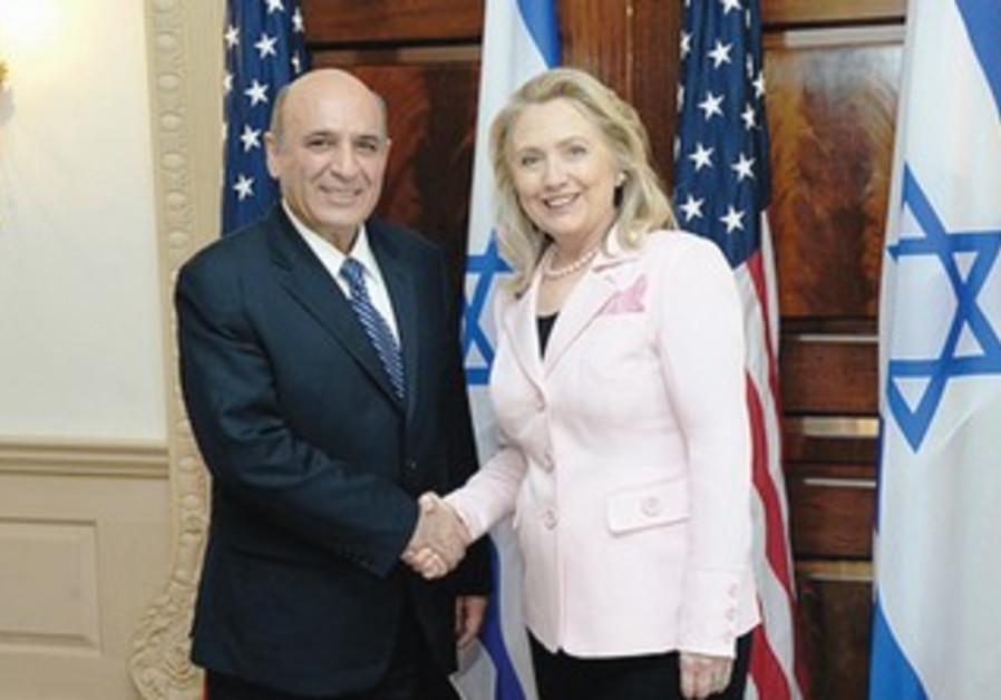 Shaul Mofaz and Hillary Clinton in Washington