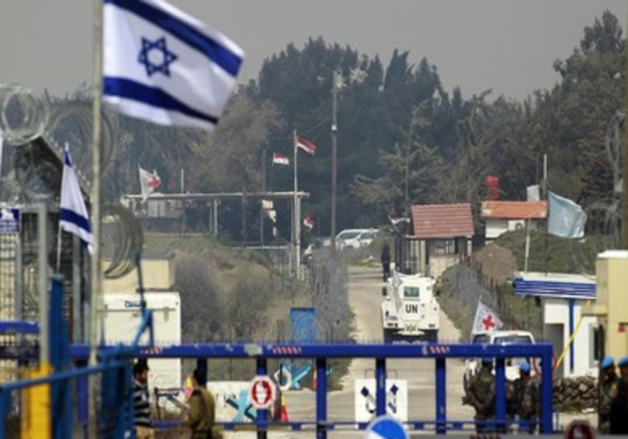 Quneitra border crossing between Israel and Syria.